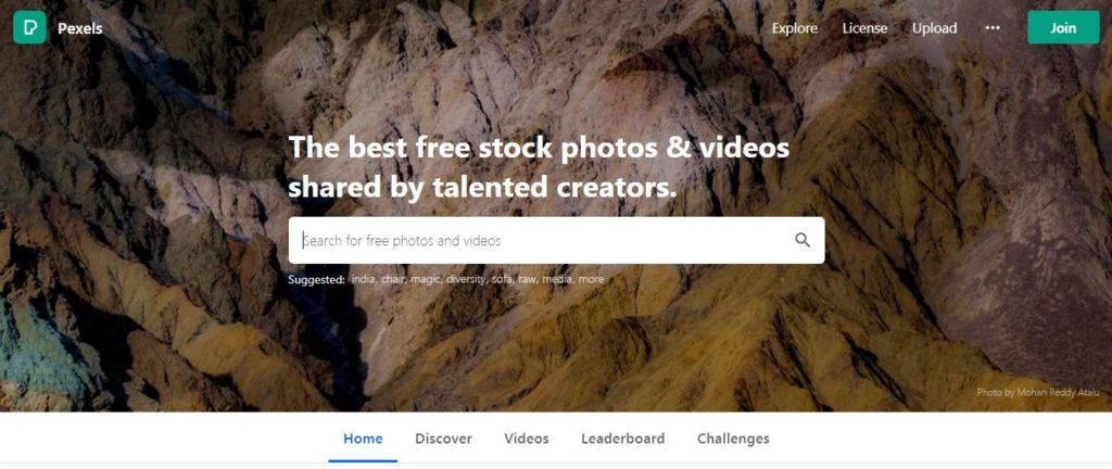 Pexels - Free stock video footage sites