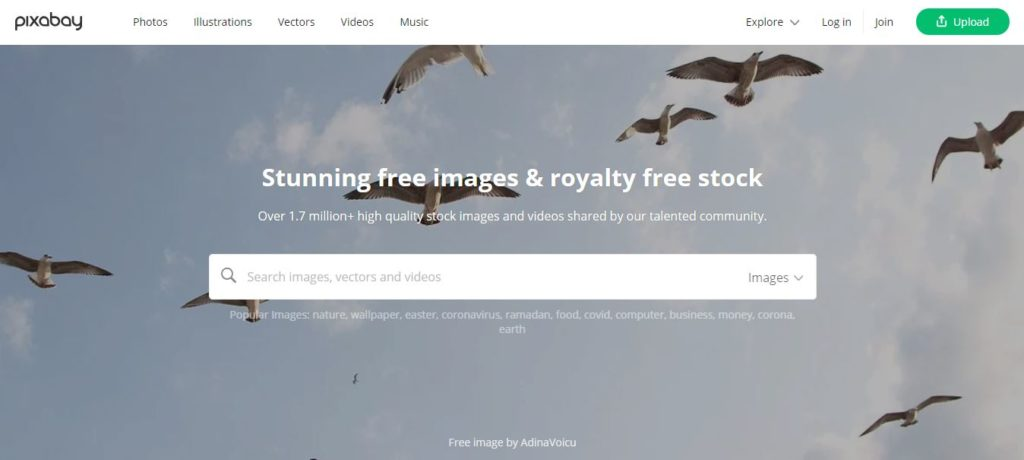 Pixabay - Free stock video footage sites