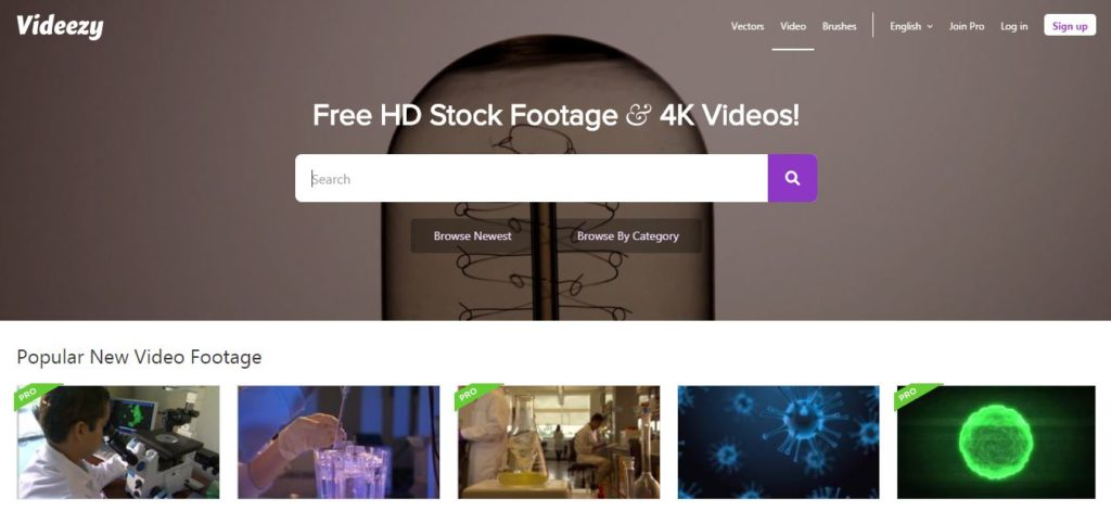 Videezy - Free stock video footage sites
