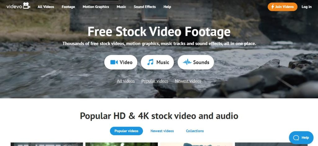 Videvo - Free stock video footage sites